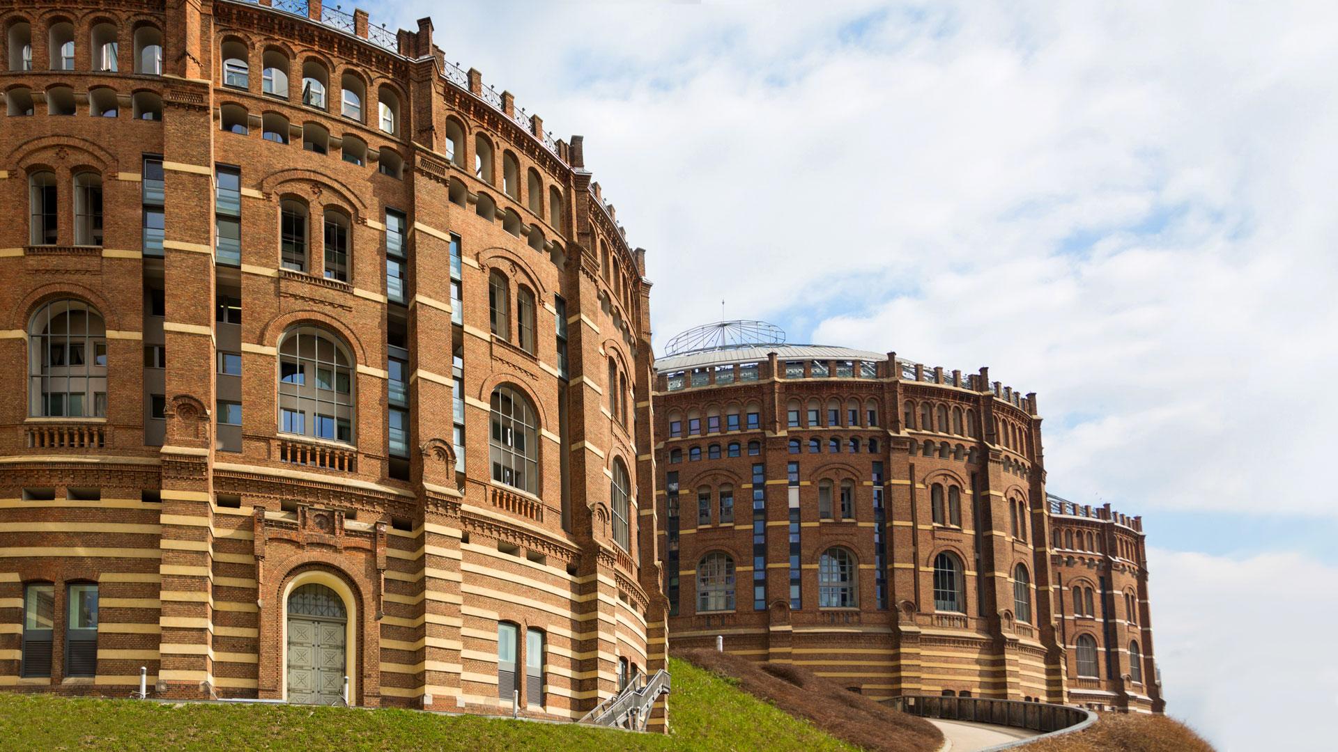 Round brick buildings
